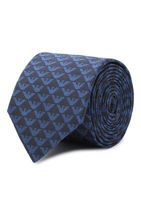 Детский шелковый галстук EMPORIO ARMANI синего цвета, арт. 409525/0A953 | Фото 1