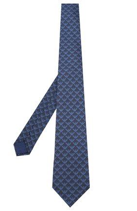 Детский шелковый галстук EMPORIO ARMANI синего цвета, арт. 409525/0A953 | Фото 2