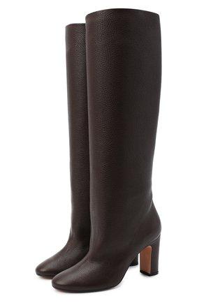 Женские кожаные сапоги KITON коричневого цвета, арт. D50809X04T82 | Фото 1