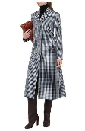 Женские кожаные сапоги KITON коричневого цвета, арт. D50809X04T82 | Фото 2