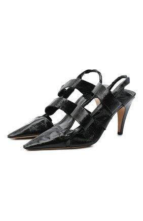 Женская кожаные туфли bv point BOTTEGA VENETA черного цвета, арт. 630187/VBP10 | Фото 1