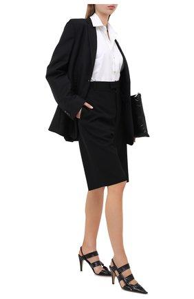 Женская кожаные туфли bv point BOTTEGA VENETA черного цвета, арт. 630187/VBP10 | Фото 2