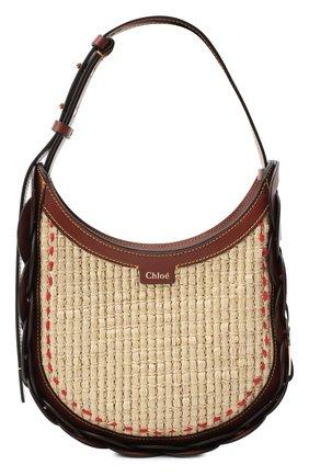 Женская сумка darryl small CHLOÉ коричневого цвета, арт. CHC20AS342D03   Фото 1