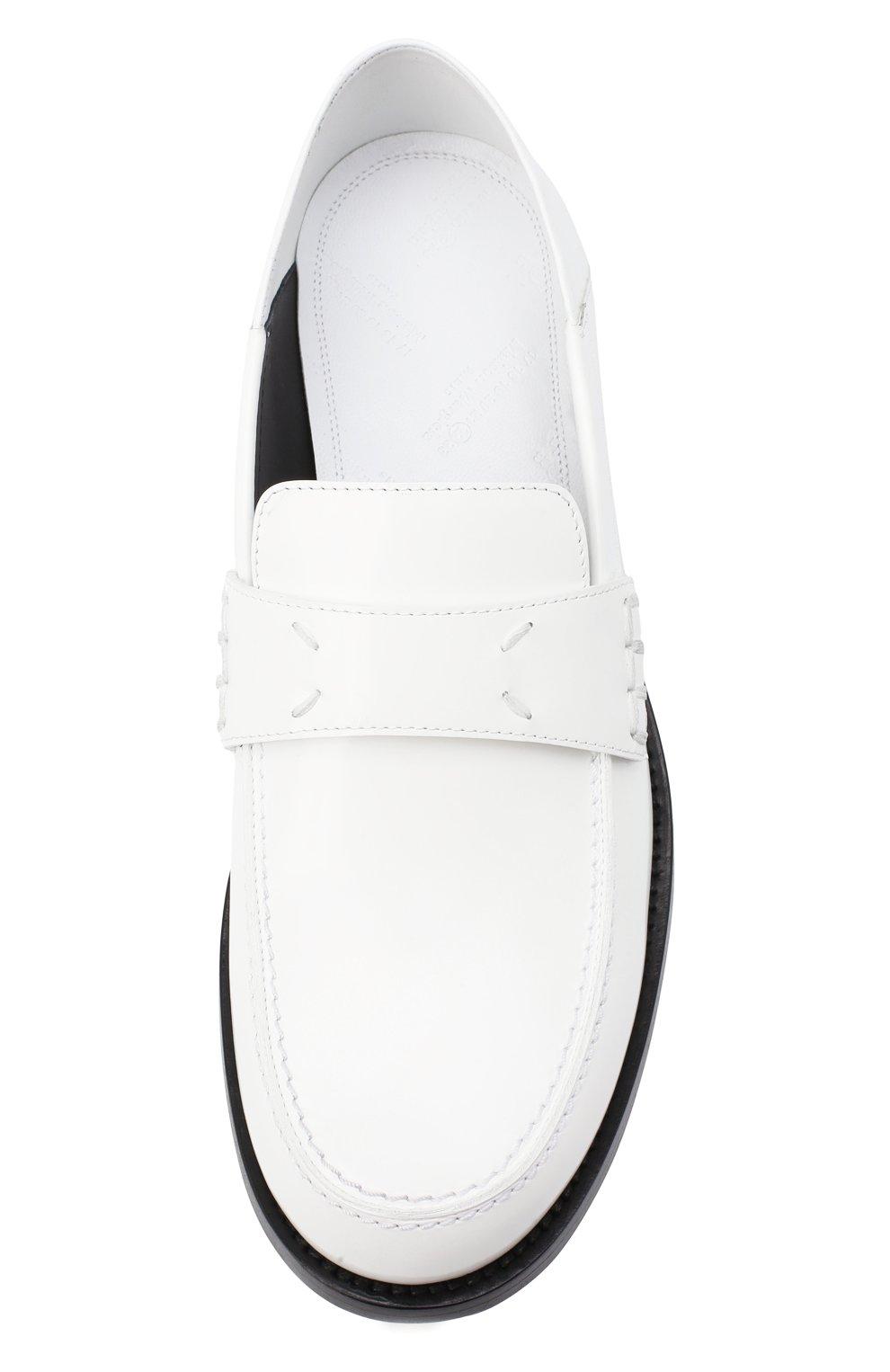 Женские кожаные лоферы camden MAISON MARGIELA белого цвета, арт. S58WR0090/P2820 | Фото 5