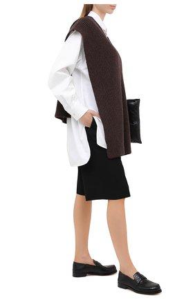 Женские кожаные лоферы camden MAISON MARGIELA черного цвета, арт. S58WR0090/P3641 | Фото 2