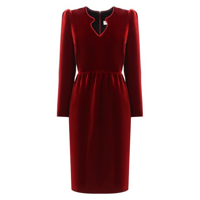 Бархатное платье Saint Laurent
