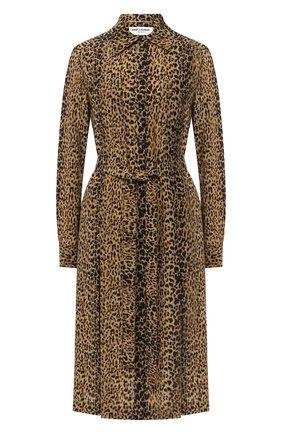 Женское шелковое платье SAINT LAURENT леопардового цвета, арт. 627153/Y5B48 | Фото 1