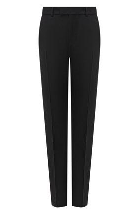 Мужской шерстяные брюки GUCCI черного цвета, арт. 581381/Z592B | Фото 1