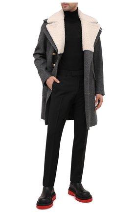 Мужской шерстяные брюки GUCCI черного цвета, арт. 581381/Z592B | Фото 2