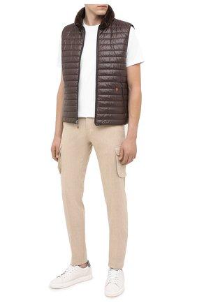 Мужские шерстяные брюки-карго KITON бежевого цвета, арт. UFPPCAK01T88 | Фото 2