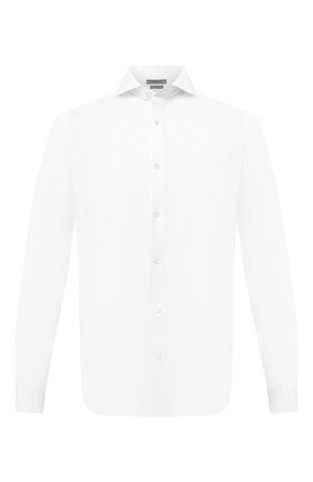 Мужская хлопковая рубашка CORNELIANI белого цвета, арт. 86P012-0811213/00 | Фото 1