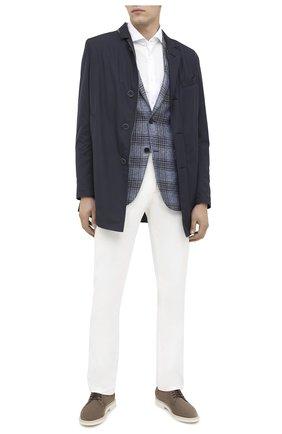 Мужская хлопковая рубашка CORNELIANI белого цвета, арт. 86P012-0811213/00 | Фото 2