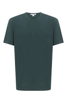 Мужская хлопковая футболка JAMES PERSE темно-зеленого цвета, арт. MLJ3311 | Фото 1