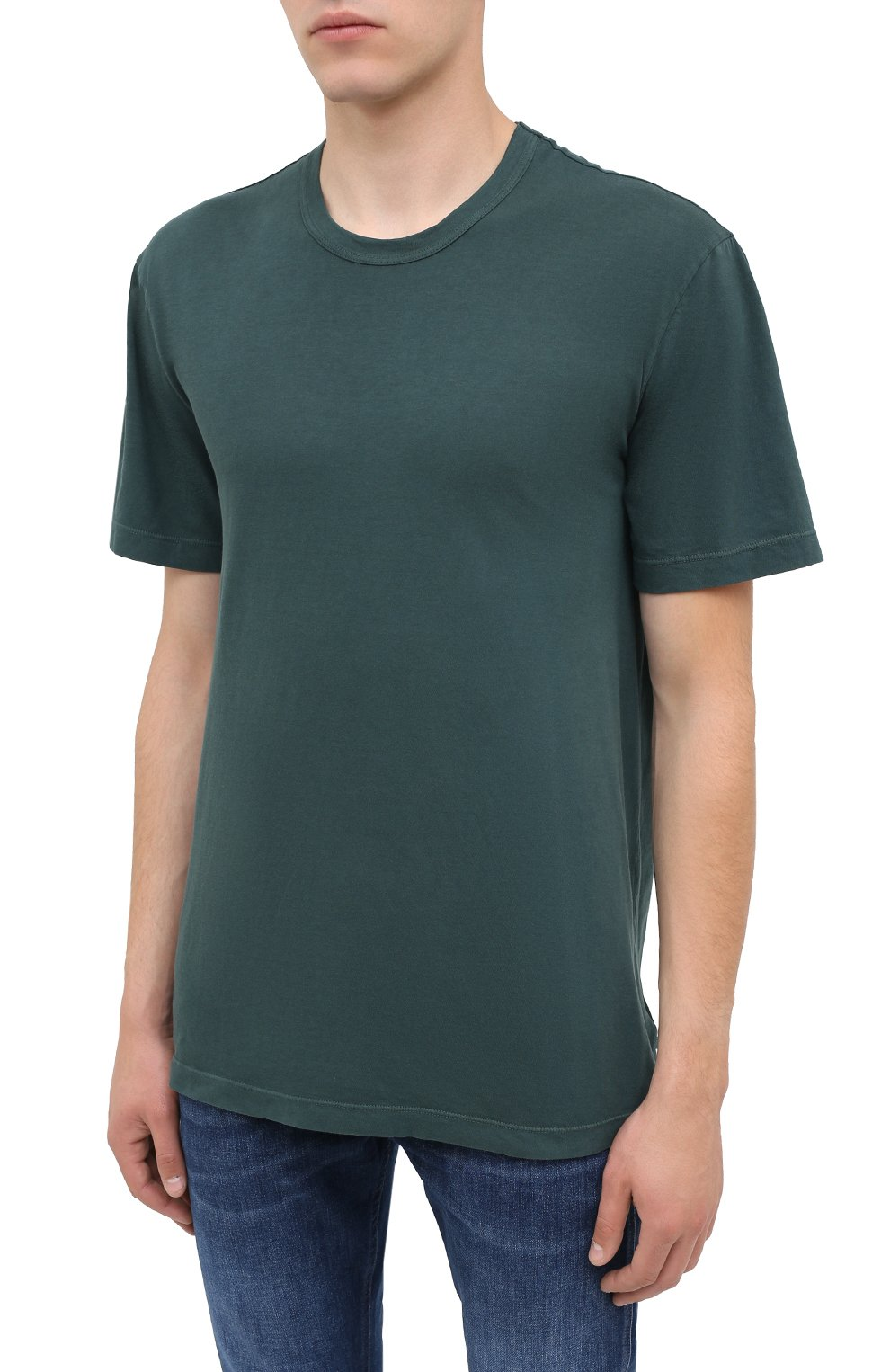 Мужская хлопковая футболка JAMES PERSE темно-зеленого цвета, арт. MLJ3311 | Фото 3