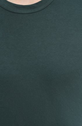 Мужская хлопковая футболка JAMES PERSE темно-зеленого цвета, арт. MLJ3311 | Фото 5