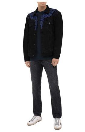 Мужская хлопковая футболка JAMES PERSE темно-синего цвета, арт. MELJ3199 | Фото 2