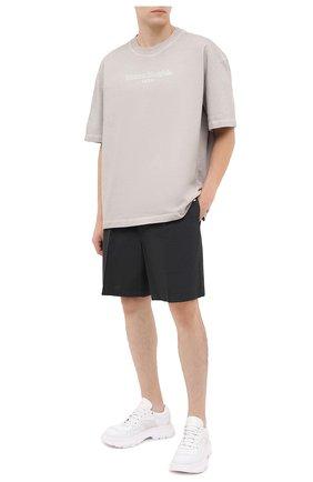 Мужские шерстяные шорты MAISON MARGIELA темно-серого цвета, арт. S50MU0038/S44330 | Фото 2