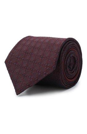 Мужской шелковый галстук ZEGNA COUTURE бордового цвета, арт. Z8C02/15C | Фото 1