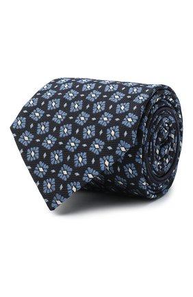 Мужской шелковый галстук ZEGNA COUTURE голубого цвета, арт. Z8C00/15C | Фото 1