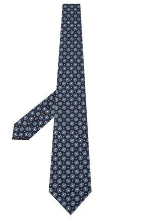 Мужской шелковый галстук ZEGNA COUTURE голубого цвета, арт. Z8C00/15C | Фото 2