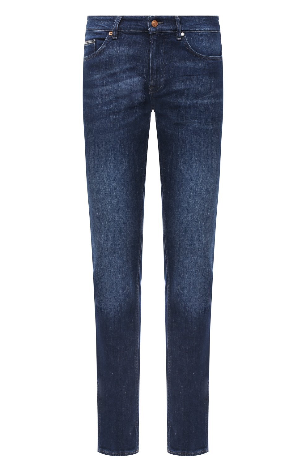 Мужские джинсы BOSS темно-синего цвета, арт. 50437912 | Фото 1