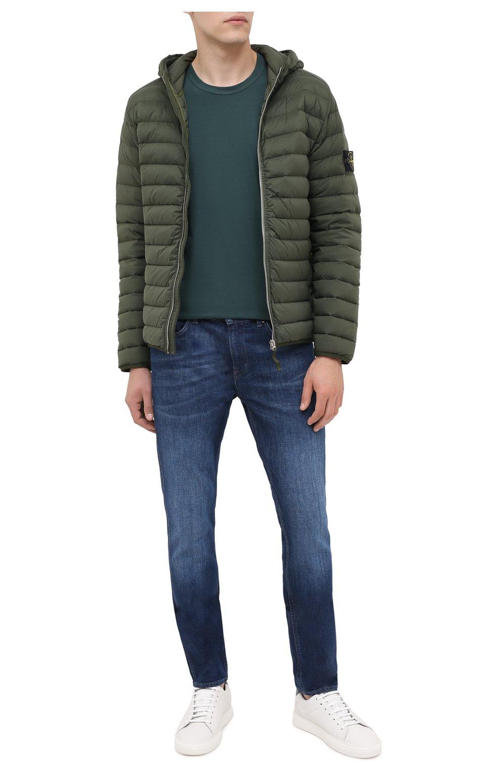 Мужские джинсы BOSS темно-синего цвета, арт. 50437912 | Фото 2