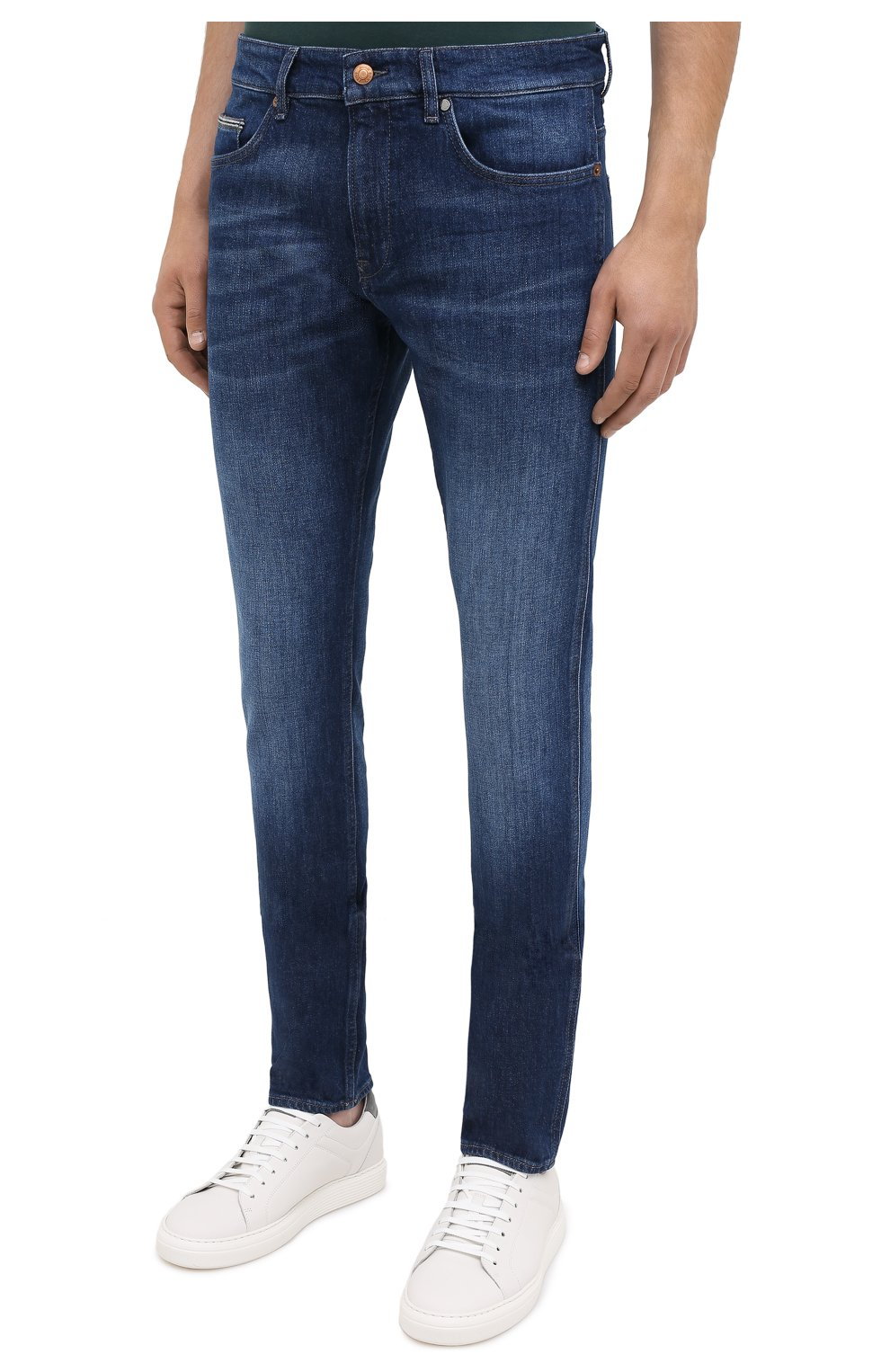 Мужские джинсы BOSS темно-синего цвета, арт. 50437912 | Фото 3