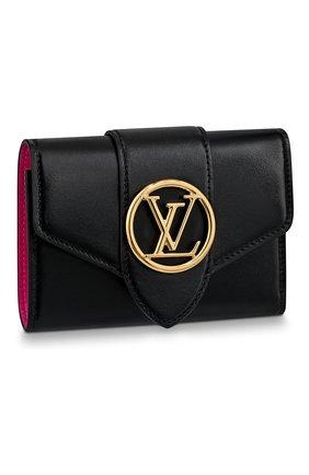 Женские кожаный кошелек pont 9 LOUIS VUITTON черного цвета, арт. M69175 | Фото 1
