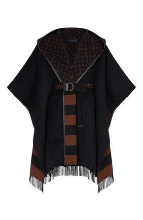 Женская шерстяная накидка LOUIS VUITTON черного цвета, арт. 1A83TK | Фото 1