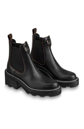 Женские кожаные ботинки beaubourg LOUIS VUITTON черного цвета, арт. 1A8949 | Фото 1