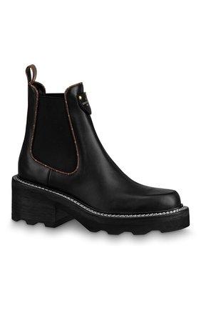 Женские кожаные ботинки beaubourg LOUIS VUITTON черного цвета, арт. 1A8949 | Фото 3