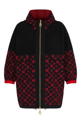 Женский кардиган из шерсти и хлопка LOUIS VUITTON черного цвета, арт. 1A837A | Фото 1