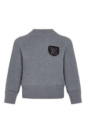 Женский шерстяной свитер LOUIS VUITTON серого цвета, арт. 1A839F | Фото 1