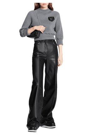 Женский шерстяной свитер LOUIS VUITTON серого цвета, арт. 1A839F | Фото 2