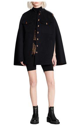 Женская шерстяное пончо LOUIS VUITTON черного цвета, арт. 1A825T | Фото 2