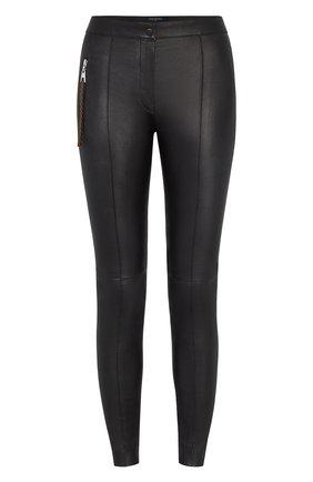 Женские кожаные брюки LOUIS VUITTON черного цвета, арт. 1A822Z | Фото 1