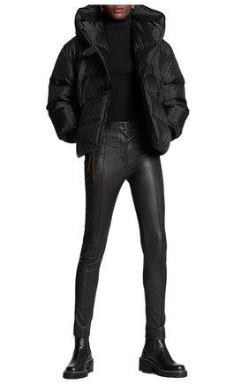 Женские кожаные брюки LOUIS VUITTON черного цвета, арт. 1A822Z | Фото 2