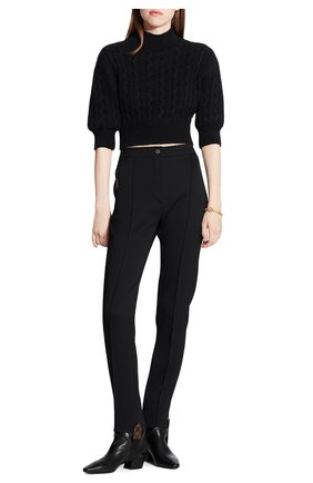 Женские шерстяные брюки LOUIS VUITTON черного цвета, арт. 1A82HU | Фото 2