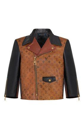 Женская кожаная куртка LOUIS VUITTON коричневого цвета, арт. 1A82K0 | Фото 1