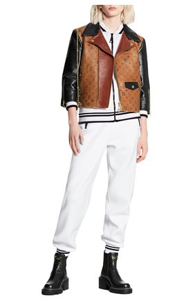 Женская кожаная куртка LOUIS VUITTON коричневого цвета, арт. 1A82K0 | Фото 2
