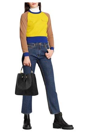 Женские джинсы LOUIS VUITTON синего цвета, арт. 1A83TE | Фото 2