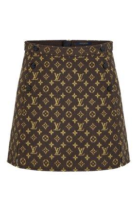 Женская шерстяная юбка LOUIS VUITTON коричневого цвета, арт. 1A82H6 | Фото 1