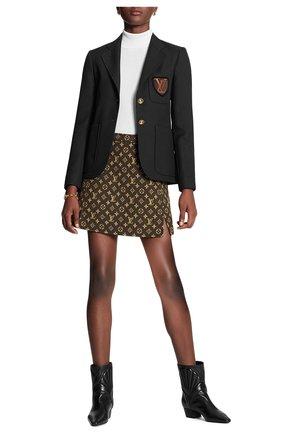 Женская шерстяная юбка LOUIS VUITTON коричневого цвета, арт. 1A82H6 | Фото 2
