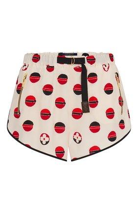 Женские шелковые шорты LOUIS VUITTON бежевого цвета, арт. 1A842K | Фото 1