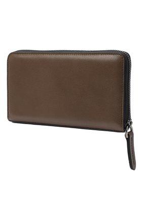 Женские кожаный кошелек BRUNELLO CUCINELLI коричневого цвета, арт. MWSMD1354 | Фото 2