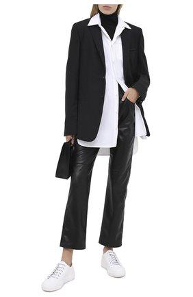 Женские кожаные кеды valentino garavani giggies VALENTINO белого цвета, арт. UW2S0AB6/LDD | Фото 2