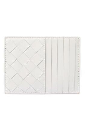 Женский кожаный футляр для кредитных карт BOTTEGA VENETA белого цвета, арт. 635043/VCPP3   Фото 1