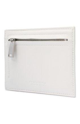 Женский кожаный футляр для кредитных карт BOTTEGA VENETA белого цвета, арт. 635043/VCPP3   Фото 2