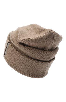 Женская кашемировая шапка BRUNELLO CUCINELLI бежевого цвета, арт. M12163199 | Фото 2