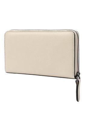 Женские кожаный кошелек BRUNELLO CUCINELLI бежевого цвета, арт. MWSMD1354 | Фото 2